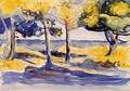 Trees by the Sea - Henri Edmond Cross