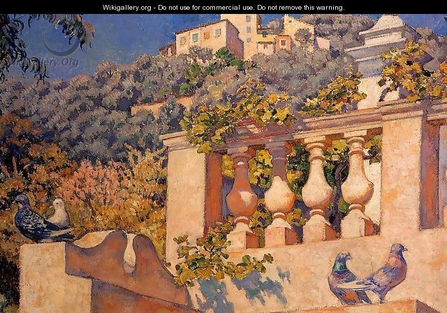 The Balustrade - Theo van Rysselberghe