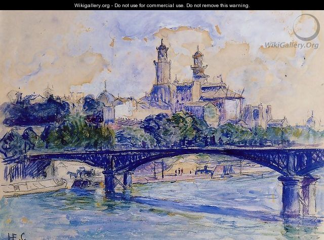The Seine by the Trocadero - Henri Edmond Cross