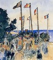 The Fourth of July by the Sea - Henri Edmond Cross
