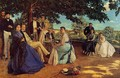 The Family Gathering - Jean Frédéric Bazille