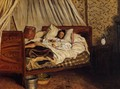 The Improvised Field Hospital - Jean Frédéric Bazille