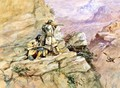 Hunting Big Horn Sheep - Charles Marion Russell