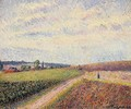 View of Eragny I - Camille Pissarro