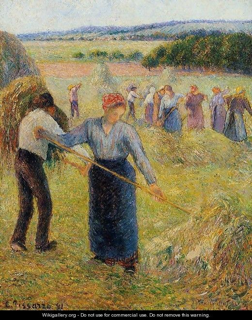 Haymaking at Eragny - Camille Pissarro