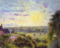 Sunset at Eragny I - Camille Pissarro
