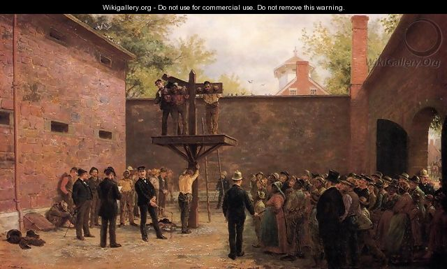 The Pillory and Whipping Post, New Castle, Delaware - Edward Lamson Henry