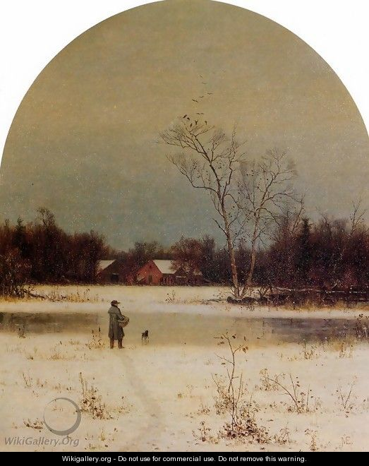 The Frozen Pond - Jervis McEntee