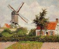 Windmill at Knocke, Belgium - Camille Pissarro