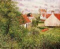 Houses at Knocke, Belgium - Camille Pissarro