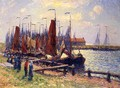 The Port of Volendam - Henri Moret
