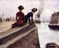 On the Jetty; Le Havre - Norbert Goeneutte