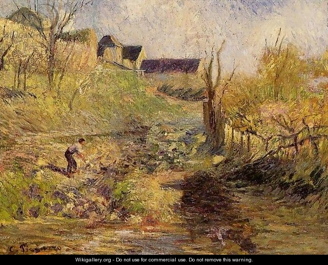 Landscape at Osny I - Camille Pissarro