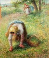 Peasants Gathering Grass - Camille Pissarro