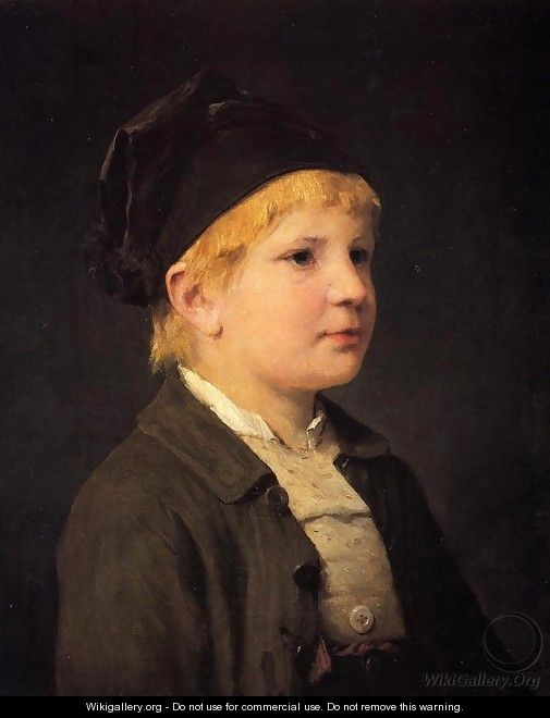 Portrait of a Young Boy - Albert Anker