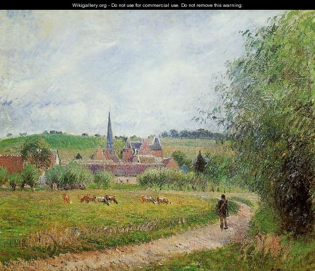 View of Eragny - Camille Pissarro