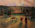 Cowherd at Eragny - Camille Pissarro