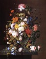 Floral Still Life with Bird's Nest - Severin Roesen