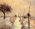 Road at Eragny: Winter - Camille Pissarro