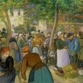 The Poultry Market - Camille Pissarro