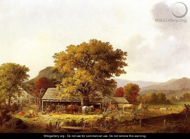 cider making in the country - George Henry Durrie