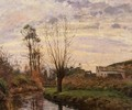 Landscape with Small Stream - Camille Pissarro