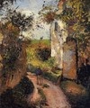 A Peasant in the Lane at l'Hermitage, Pontoise - Camille Pissarro
