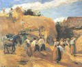 The Threshing Machine - Camille Pissarro