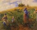 Picking Peas - Camille Pissarro