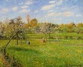Morning, Spring, Grey Weather, Eragny - Camille Pissarro