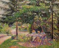 Children in a Garden at Eragny - Camille Pissarro