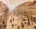 Boulevard Montmartre: Morning, Grey Weather - Camille Pissarro