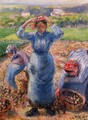 Peasants Harvesting Potatoes - Camille Pissarro