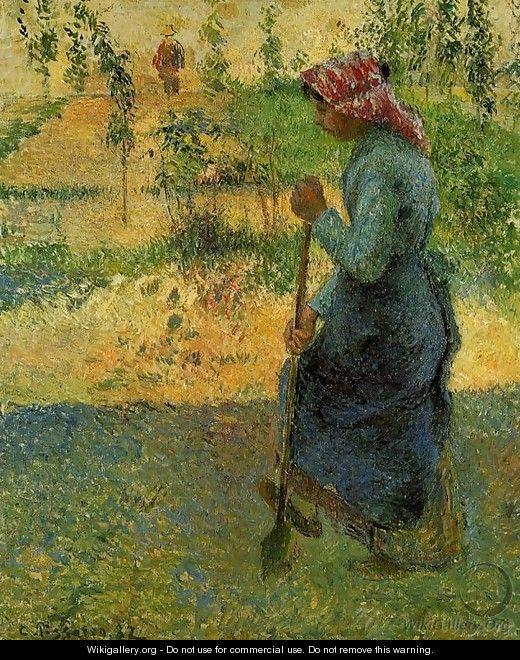 Study of a Peasant in Open Air - Camille Pissarro