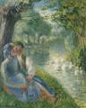 Lovers Seated at the Foot of a Willow Tree - Camille Pissarro
