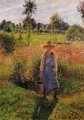 The Gardener, Afternoon Sun, Eragny - Camille Pissarro