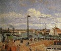 The Pilot's Jetty, Le Havre - High Tide, Afternoon Sun - Camille Pissarro
