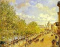 Quai Malaquais in the Afternoon, Sunshine - Camille Pissarro