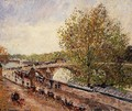 The Pont Royal - Grey Weather, Afternoon, Spring - Camille Pissarro