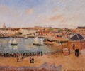 The Inner Harbor, Dieppe: Afternoon, Sun, Low Tide - Camille Pissarro