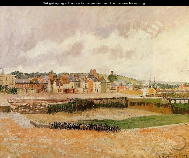 Afternoon, the Dunquesne Basin, Dieppe, Low Tide - Camille Pissarro