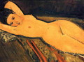 Reclining Nude, Arms Folded under Her Head - Amedeo Modigliani