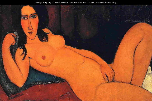 Reclining Nude with Loose Hair - Amedeo Modigliani