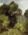 In the Woods I - Camille Pissarro