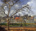 On Orchard in Pontoise in Winter - Camille Pissarro