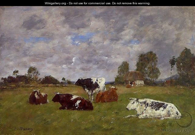 Cows in a Pasture - Eugène Boudin