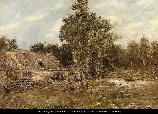 The Mill, Saint-Cenery - Eugène Boudin