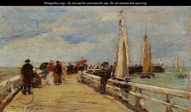 Deauville, the Jetty II - Eugène Boudin