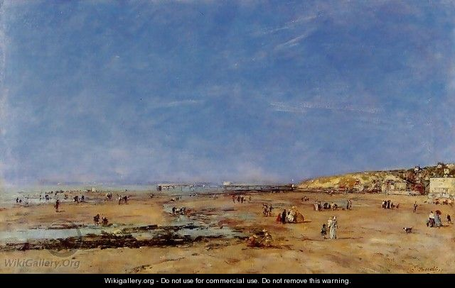 Trouville, Panorama of the Beach - Eugène Boudin