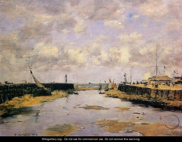 Trouville, the Jettys, Low Tide IX - Eugène Boudin